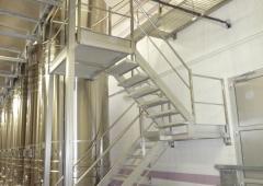 - Escalier double volée cuverie inox