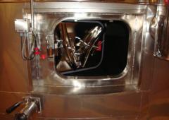 - Modification porte cuve inox